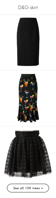 """D&G skirt"" by alina-chipchikova ❤ liked on Polyvore featuring skirts, black, high waist knee length pencil skirt, dolce gabbana skirt, knee length pencil skirt, high-waisted skirts, high rise skirts, dolce & gabbana, fishtail skirt and elastic waist skirt"