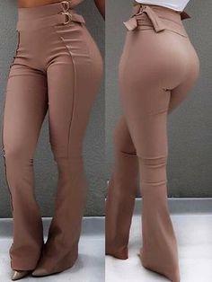 Pantalones de cintura baja acampanados (S/M/L/XL) $35.99