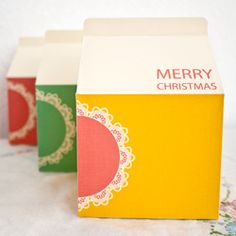 Create cute Christmas packaging with these downloadable templates.