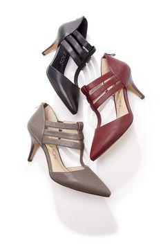 Leather mid heel