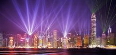 Hong Kong Light show happens nightly at 8 PM ending with fireworks off a boat on the water between Hong Kong Island and Kowloon mainland area.  Best seat in the house is the dining room at the Salisbury YMCA along with the best Buffet in all of Hong Kong!