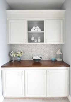 Bathroom cabinets instead of a closet with extra counter space for the crap that clutters around the sink. remove closet to create this space for extra towels linens make up. Paint Cabinets White, Wood Cabinets, Kitchen Cabinets, Linen Cabinets, Laundry Cabinets, Upper Cabinets, Concrete Countertops, Paint Furniture, Bathroom Furniture