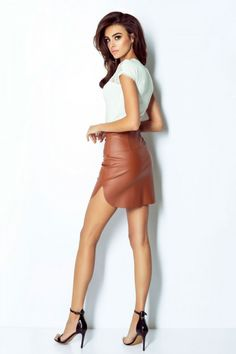 Fustă scurtă IVON - maro – Misty.ro Camilla, Leather Skirt, Legs, Skirts, Inspiration, Dresses, Fashion, Knee Highs, Ankle Socks