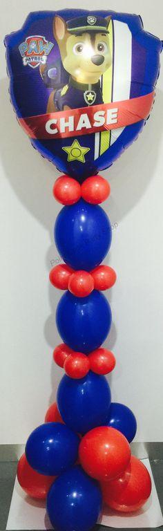 Paw patrol floor balloon decoration. #pointcookballoons