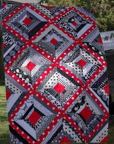 Sane, Crazy, Crumby Quilting: What's Black and White and Red All Over?