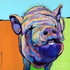 Grunt Painting - Grunt Fine Art Print; like the colors