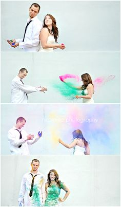 Epic Trash the dress! Holi Powder