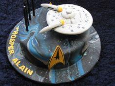 Star Trek cake - Top Tier Celebration Cakes