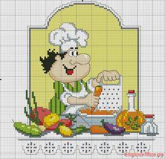веселый повар вышивка схема: 8 тыс изображений найдено в Яндекс.Картинках