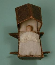 Early dolls of this era come in many varieites. Materials include carton, wax, and wood covered in gesso. Some of the so called Queen Anne . Victorian Dolls, Victorian Era, Vintage Dolls, Antique Wax, Antique Toys, Victoria And Albert, Queen Victoria, Doll Museum, Doll Beds
