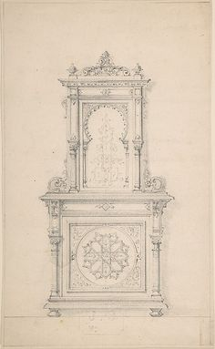 Design for a Cabinet in Moorish Style