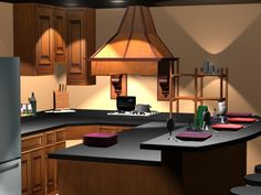 Office Design With Pro100 Software  Interior Design Software Cool Custom Kitchen Design Software Design Ideas