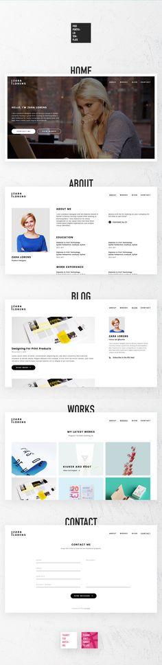 FREE Portfolio Template on Behance Web Design Pinterest Free - company portfolio template