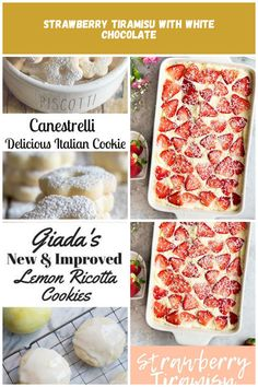 Canestrelli delicious Italian cookie Italian Desserts Italian Cookies, Italian Desserts, Strawberry Tiramisu, Ricotta Cookies, White Chocolate, Lemon, Food, Upcycled Crafts, Meals