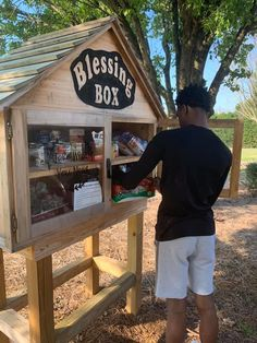 Cabarrus Blessing Boxes seeing surge of community help Little Free Library Plans, Little Free Libraries, Little Library, Girl Scout Silver Award, Homeless Care Package, Little Free Pantry, Eagle Project, Blessing Bags, Bronze Award