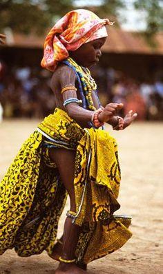 Africa |  A dancing Krobo girl.  Ghana |  © Angela Fisher and Carol Beckwith.