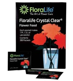 Floralife CRYSTAL CLEAR® Flower Food 300, 1Qt./1L packet, 100 box, 100 pack