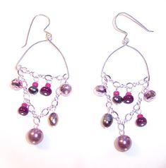 Delicate Pink Drop Earrings