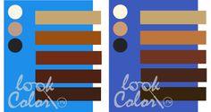 сочетание сине голубого и сине фиолетового с коричневым