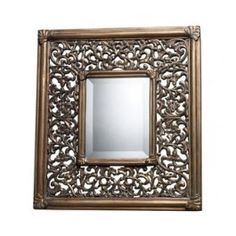 """Dimond Lighting DM1939 Collingswood 21"""" x 19"""" Rectangular Wall Mirror with Oak Leaf Frame, in Ravenhill Gold Finish"""
