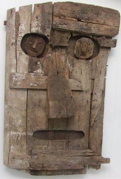Les Chats Pelés Scrap Wood Art, Wood Wall Art, Found Object Art, Found Art, Paint Brush Art, Driftwood Crafts, Art Brut, Naive Art, Recycled Art