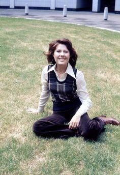 Sarah Jane Smith (Elisabeth Sladen), companion to the Third and Fourth Doctors.