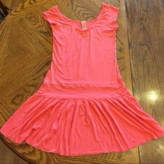 Free People Coral dress.Ready to wear,Great shape! Very sweet top/tunic could be worn with jeans/tights/leggings & boots/flats; as versatile as you make it! Firm price unless bundled. Free People Dresses