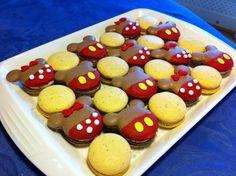 Macarons from Kawaii Eats.. Mickey and Minnie Chocolate Macarons with Chai buttercream and Poppyseed Lemon Curd Macarons.