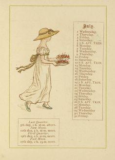 July - Kate Greenaway's Almanack for 1885