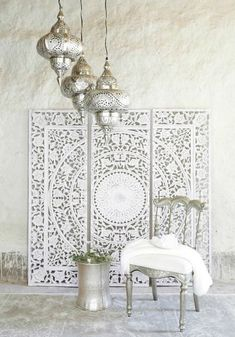 DIY Moroccan-Style Wall Stencil Tutorial - Renewed House - Home Decor Ideas Decor, Moroccan Interiors, Interior, Wall Stencil Tutorial, Stencils Wall, Modern Moroccan Decor, Home Deco, Modern Decor, Asian Home Decor