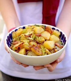 Poêlée de pommes de terre sautées et chou vert »