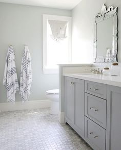 You guys, these striped Turkish towels from @myhavlu are a game changer! They have a terry cloth backing, so they give the look AND they're super soft. #yourewelcome 😉 #midwayhouse . . . #whitebathroom #whitetile #bathroomtile #interiordesign #interiors #homedecor #instadesign #interiorinspiration #interiorsinspo #bathroominspiration #bathroominspo #bathroomgoals #carraramarble #abmathome #ohwowyes #interiorlovers #instahome #creativityfound #hexagontile #hexagonwhitetile