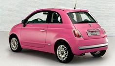 pink fiat 500 :D Fiat 500 Interior, Pretty Cars, Cute Cars, Fiat 500 Pink, Fiat 500 Colours, My Dream Car, Dream Cars, Pink Car Accessories, September