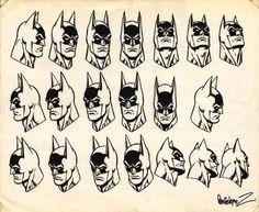 Jose Luis Garcia-Lopez Batman Heads, in Lambo S.'s Jose Luis Garcia-Lopez Comic Art Gallery Room Batman Kunst, Batman Art, Superman, Batman Robin, Comic Character, Character Concept, Concept Art, Character Design, Character Sheet
