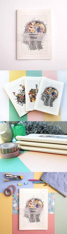 Printed thread-bound notebooks