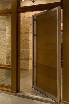 Las Canoas Remodel Center Pivot Door - contemporary - Entry - Santa Barbara - Allen Construction