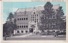 Holy Redeemer School - vintage postcard, 1920's?
