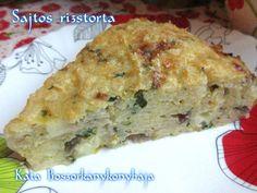 Sajtos rizstorta Brie, Quiche, Breakfast, Food, Breakfast Cafe, Essen, Quiches, Yemek, Custard Tart