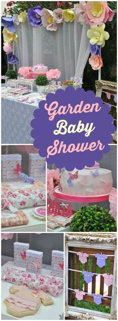 How pretty is this shabby chic pastel baby shower?! See more party ideas at CatchMyParty.com!