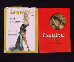 Pin Up Girl Calendar Esquire 1948 Original by Kissisjustakiss