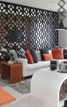 Divisória para o sofá da sala