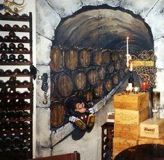 Mickey had too much tasting...    Trompe l'oeil   Mural