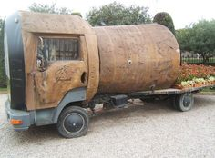 Love this! The Champagne Cork Truck, a famous attraction at Spanish Cava Producer Freixenet  [ cork object / http://on.fb.me/1csKl73 ]