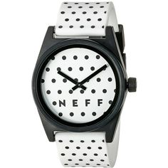 Neff Daily Wild Watch ($35) ❤ liked on Polyvore featuring jewelry, watches, neff watches, water resistant watches, analog wrist watch, stainless steel watches and military fashion