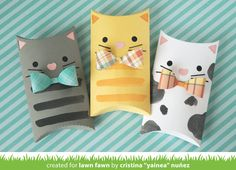 Lawn Fawn Video Pillow Box Kitties by Yainea + A Happy Fall Card by Ivy – Lawn Fawn Best Picture For cosmetic Gift Box For Your Taste You are looking for something, and it is going to tell you exactly what you are looking for, and you didn't find[. Cat Trees Diy Easy, Diy Cat Tree, Kitten Party, Lawn Fawn Blog, Pillow Box, Cat Pillow, Cat Cards, Origami Tutorial, Marianne Design
