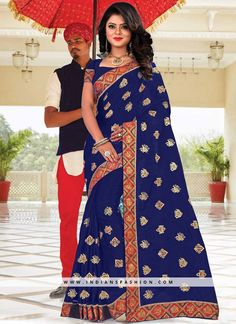 8ec5405504 #uniquesareecollection #bluesaree An exclusive online store of designer  saree. Grab this vibrant embroidered