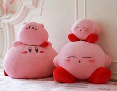 Cute Kirby Pillow ●Size:Big Small ●Material:pp Cotton ●Color:Pink ●Process time: business days●Shipping time: business days to United States, weeks to other country. Kawaii Bunny, Kawaii Plush, Cute Plush, Big Plush, Kawaii Faces, Hamsters, Kawaii Room, Cute Stuffed Animals, Cute Pillows