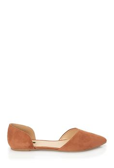 Pointed Faux Suede Flats   FOREVER21 - 2052289218