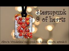Steampunk-ish Alice In Wonderland: Pack of cards - charm [TUTORIAL] - YouTube