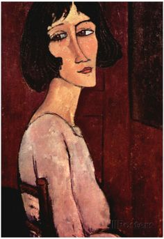Amadeo Modigliani Portrait of Margarita Art Print Poster Posters sur AllPosters.fr